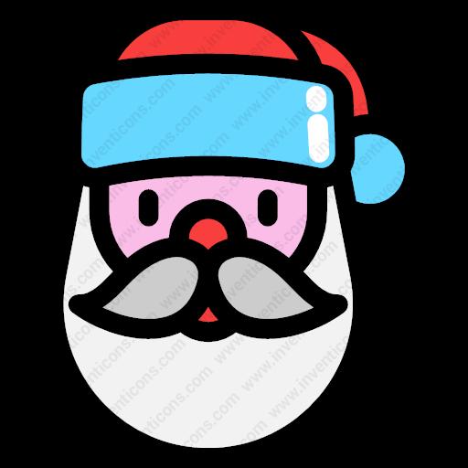 Download Santa,claus,character,portrait,person Icon Inventicons