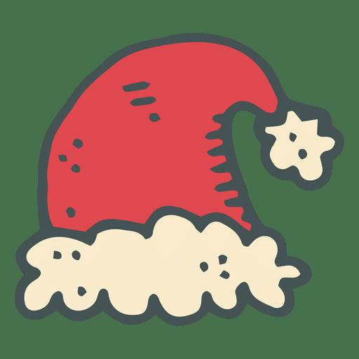 Red Santa Claus Hat Hand Drawn Cartoon Icon