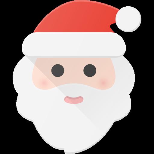 Santa, Claus, Christmas Icon Free Of Christmas Flat