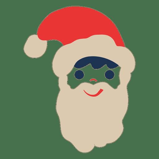 Santa Claus Head Flat Icon