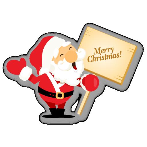 Merry Christmas Santa Claus Icons Navidad Craft