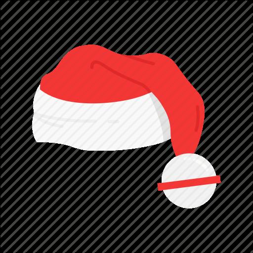 Christmas Hat, Hat, Santa Claus, Santa Hat Icon