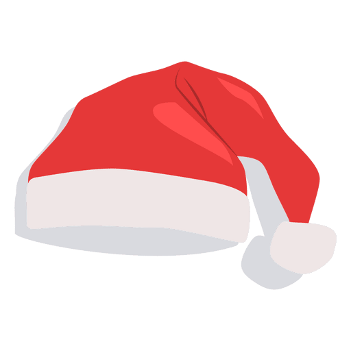 Red Santa Claus Hat Flat Icon