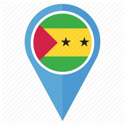 Country, Direction, Flag, Location, Pin, Sao Tome And Principe Icon
