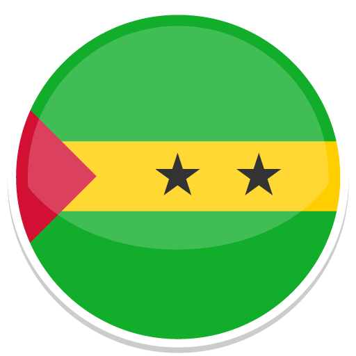 Sao, Tome, And, Principe, Flag, Flags Icon Free Of Round World