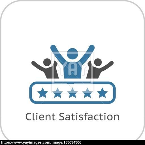 Client Satisfaction Icon Flat Design Vector