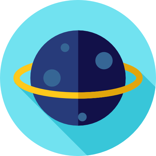 Astronomy, Solar System, Science, Education, Planet, Saturn Icon