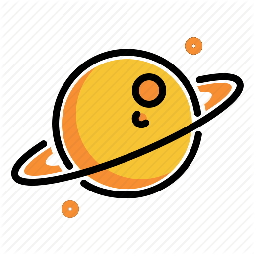 Outer Planet, Planet, Ring Saturn, Saturn, Solar System Icon