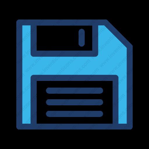 Download Save,floppy,deskette Icon Inventicons