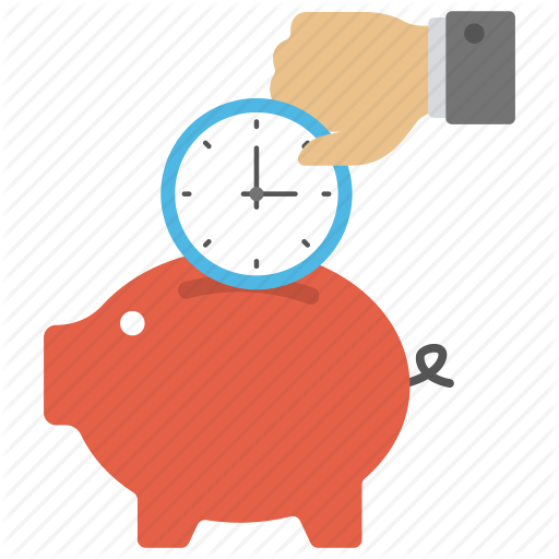 Piggy Bank Time, Save Time And Money, Time Importance, Time Is