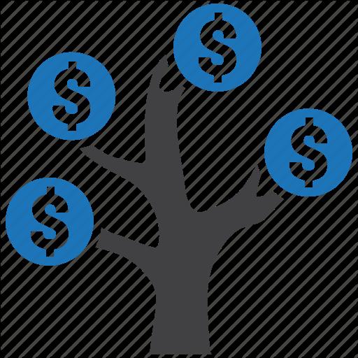 Dollar, Finance, Money, Royalty, Scam, Tree Icon