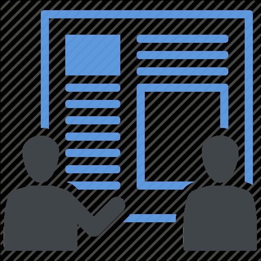 Business Planning, Presentation, Product Design, Teamwork Icon