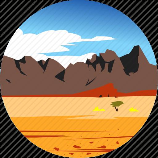 Desert, Landscape, Mountains, Nature, Parks, Scenery Icon