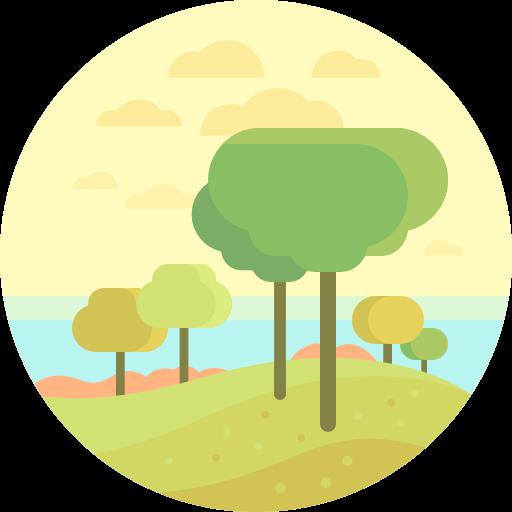 Nature, Landscape, Trees, Scenery Icon