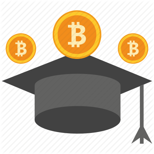 Bank, Bitcoin, Coin, Crypto, Currency, Digital, Scholarship Icon