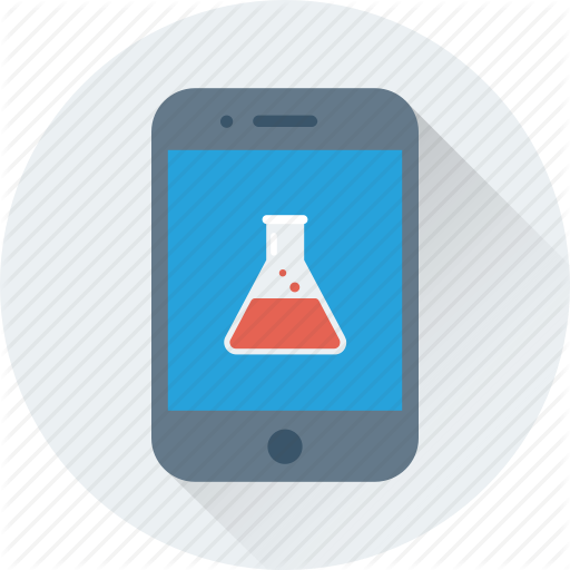 Chemistry App, Conical Flask, Flask, Mobile, Science Icon