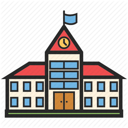 Back To School, Education, School Building, Study Icon