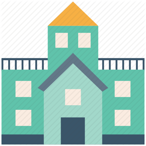 Building, College, College Building, School, School Building Icon