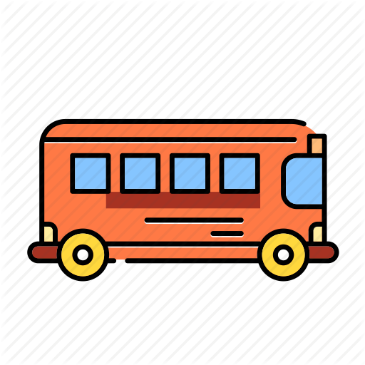 Bus, Color, Lineal, Rail Bus, School Bus, Transport