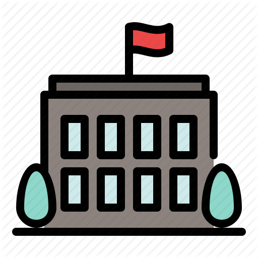 Administration, Building, City, Government, Office, School Icon