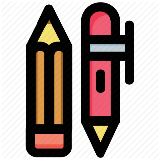 Ballpen, Ballpoint, Pencil, School Supplies, Writing Icon