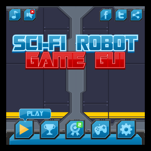 Sci Fi Robot Game Gui
