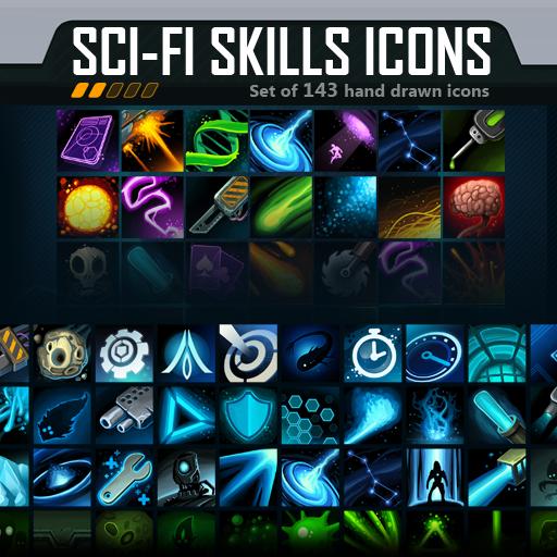 Scifi Skills Icons