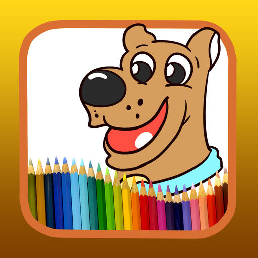 Coloring For Paint Kids Scooby Doo Version