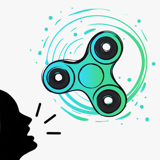 Scream Fidget Hand Spinner Use Your Voice To Spin