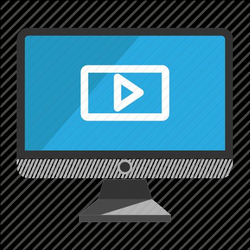 Computer, Desktop, Monitor, Play, Screen Icon