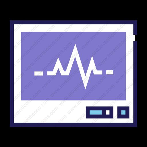 Download Heart Rate Monitor,ecg,ecg Screen Icon Inventicons