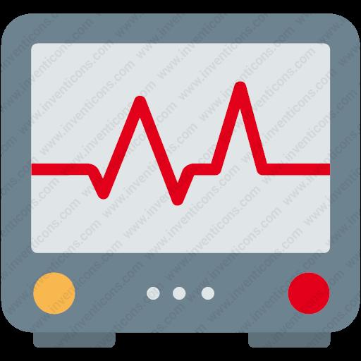 Download Ecg,heart,heartbeat,hospital,pulse,screen Icon Inventicons