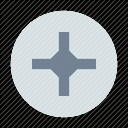 Cross, Pin, Screw Icon