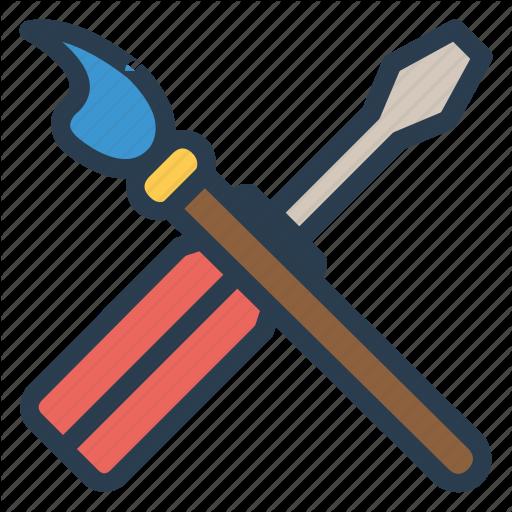 Brush, Fix, Paint, Screwdriver Icon