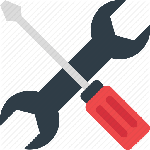 Hardware Tools, Screwdriver, Spanner, Work Tools, Wrench Icon Icon