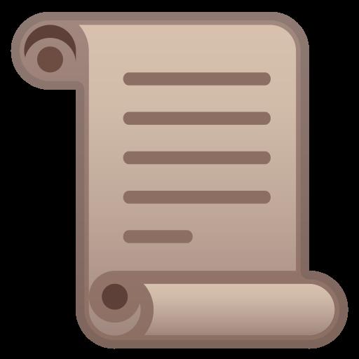 Scroll Icon Noto Emoji Objects Iconset Google
