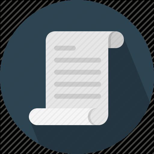 Brief, Document, Script, Scroll Icon
