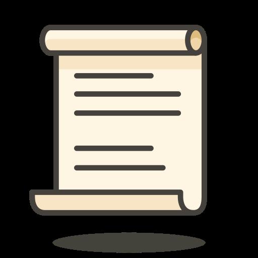 Scroll Icon Free Of Free Vector Emoji
