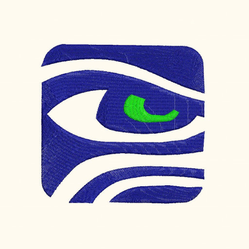 Seattle Seahawks, Squre Icon Machine Embroidery Design