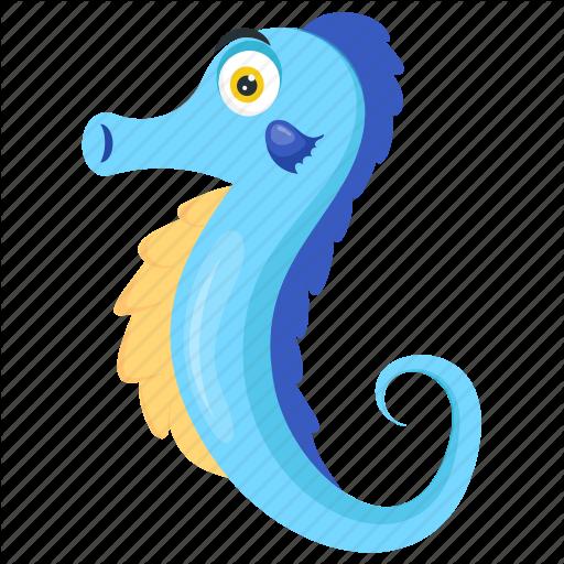 Dragon, Hippocampus, Sea Animal, Sea Monster, Seahorse Icon