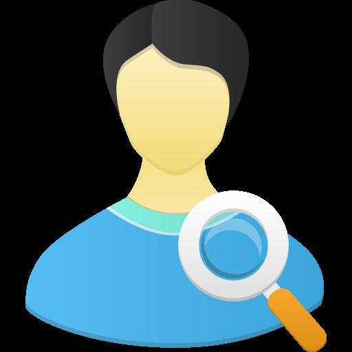 Male User Search Icon Flatastic Iconset Custom Icon Design