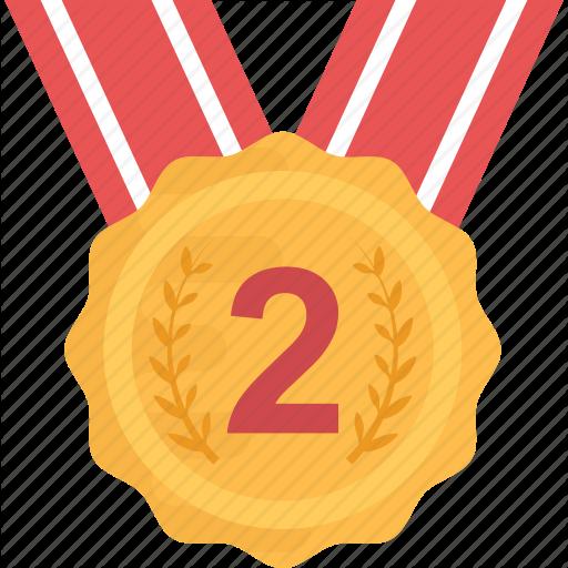 Award, Medal, Position Medal, Reward, Second Icon