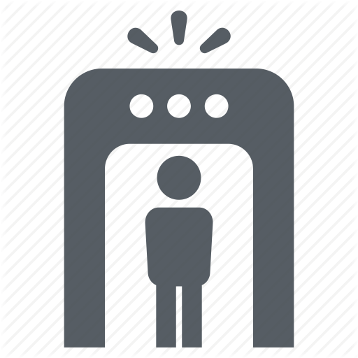 Airport, Control, Detection, Gate, People, Security Icon