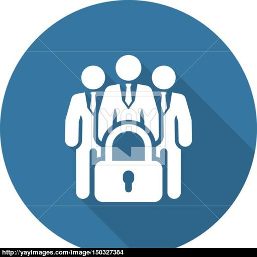 Business Security Icon Flat Design Vector