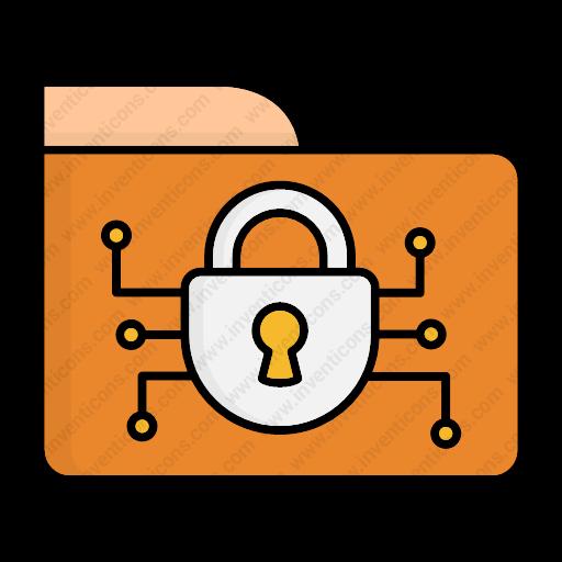 Download Folder,security Icon Inventicons