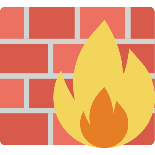 Firewall, Flame, Security System Icon
