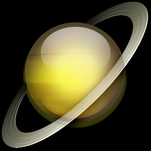 Saturn Icon Solar System Iconset Dan Wiersema