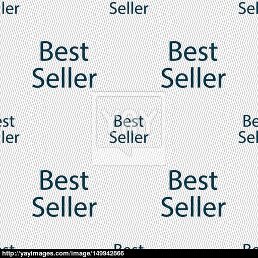 Best Seller Sign Icon Best Seller Award Symbol Seamless Abstract