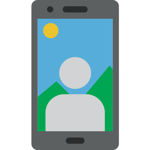 Selfie, Mobile, Phone, Smartphone Icon Free Of Colored Hand Phone