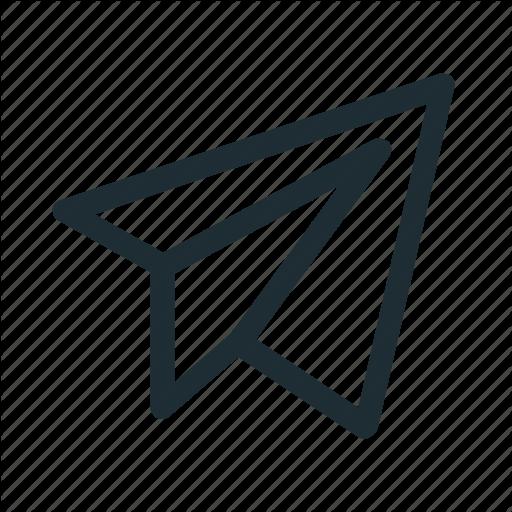 Interface, Paper Plane, Plane, Send Icon